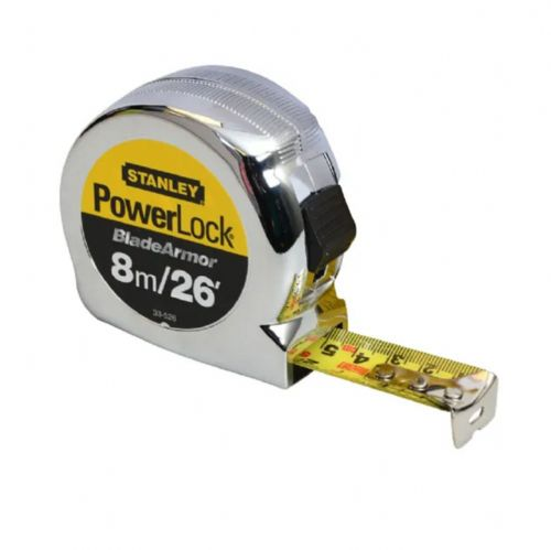 Stanley 033526 PowerLock BladeArmor Pocket Tape Measure 8m/26ft (Width 25mm)